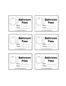 printable hall pass