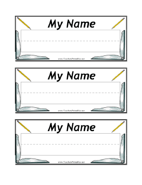 Wild image within free printable desk name plate template