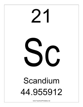 scanduim element This page contains brief profiles and pictures of each of the group 3 metals (iiib)  more information can be found via the www links following each element.