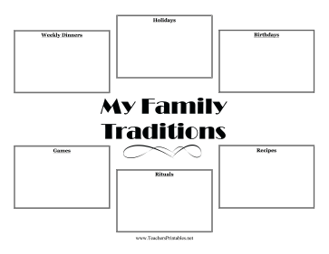 Family Traditions Teachers Printable
