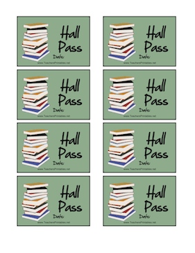 Ridiculous image with printable hall passes