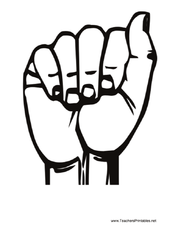 Printable Sign Language Letter A