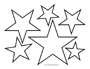 Influential image pertaining to star cutouts printable